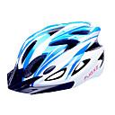 FJQXZ EPS  PC Azul y moldeado integralmente Blanco Casco de Ciclista (18 Vents)