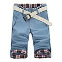 De verano delgado Casual recortada pantalones de los hombres de la correa (no incluida)