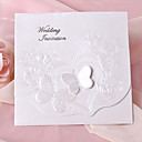 Pearl Paper Butterfly Tri-fold Wedding Invitation -Set Of 50/20