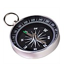 Portable Metal Compass with Keychain(Large) - Silver