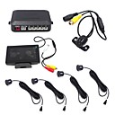 Car Reversing Parking Sensor 4.3 inch Monitor Waterproof Reverse Camera 4 Sensors Alarm