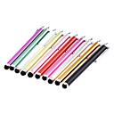 2 Piezas Almuerzos Clip en capacitivo Stylus pen lápiz para iPad y otros (color al azar)