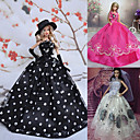 3 Pcs Barbie Doll Dress Party Royal Banquet Tarde