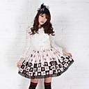 Café bonita Lolita Ailce Ajedrez Princesa Kawaii Falda encantadora