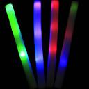1PCS blanca espuma hecha resplandor LED del palillo de conciertos para el Mundial Cheer Props (Powered by Batería Incluida, color al azar)