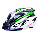 FJQXZ EPS  PC Verde y Negro Integralmente moldeado Casco de Ciclista (18 Vents)