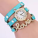 Koshi 2014 Amor Diamonade 3 reloj redondo de la Mujer (azul claro)