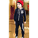 Boys Casual Letter Pattern Long Sleeve Clothing Sets