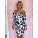 Womens Export Hot Sale Sexy Letter Print Ruffle Dress
