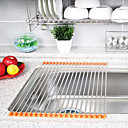 15 de base de acero inoxidable estante plegable de drenaje (color al azar), l41cm x w21cm