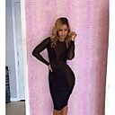 Womens Hottest New Sexy Stitching Bodycon Dress