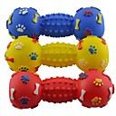 500kg Paw Impreso Toy Rubber Pequeño Dumbell estilo para Mascotas Perros Gatos