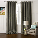 (Two Panels) Modern Floral Solid Embossed Blackout Curtain