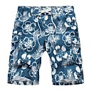Mens Casual Mid Length Beach Pants