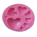3D Small and Big Heart Shaped Silicone Mold