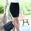 De Mujeres de Nueva Moda Femenina Grueso Fold Tight ajustada falda