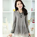 Womens Loose Fit Lace Split Joint Blouse