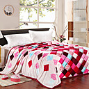 Geometric Pattern Plaid Flannel Blanket