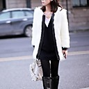 Fashion Long Sleeve Collarless Faux Fur Party/Casual Coat(More Colors)