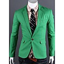 U2M2 Mens Profession Green Tailor Collar  One Buckle Sheath Coat