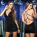 Caliente sin respaldo de poliéster Sexy Nightclub mujeres mini vestidos