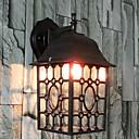 Pared exterior de luz, 1 luz, Classic Glass Creativo Aluminio Pintura