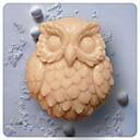 Owl Jabón Animal Molde hecho a mano de silicona Forma Moldes para jabón