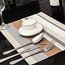 Colores surtidos rayada de mantel para la cena, L45cm x 30cm W, Calor PVC resistente