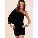 Muse, Mujer hombro asimétrico vestido de Negro