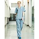 seis bolsillos v-cuello conjunto matorrales uniformes médicos de las mujeres