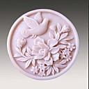 Jabón hecho a mano de la flor del pájaro Molde de silicona Forma Moldes para jabón