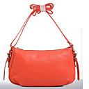 Maga Womens Solid Color Genuine Leather One Shoulder/Crossbody  Bag (Watermelon)