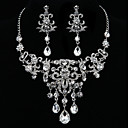 Fashion Chandeliar Diamond Jewelry Set(Necklace,Earrings)