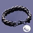 anchura de las pulseras del acoplamiento de cadena hecha a mano regalo personalizado joyería de acero inoxidable grabado 0.8cm