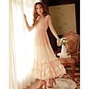 Womens Lace Mesh Maxi Dress