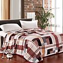 Elegant Check Pattern Flannel Blanket
