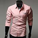 U2M2 Mens Profession Pink Lapel Neck  Buckle  Shirt