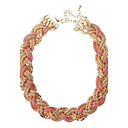 JANE STONE Gold Fashion Chain Statement Necklace(2 Colors)