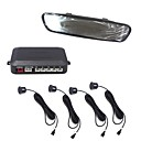 4 Sensors Car Parking Sensor Auto Reverse Backup Radar Detector System with Mirror Monitor Display