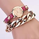 Koshi 2014 Womens Fashion Over Gild Rivet Chain Watch (Fuchsia)