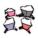 Ajustable cuero de la PU Ventilar bozal de Animales Perros (M, color al azar)