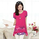 Womens Round Collar Han Edition in Long Loose Big Yards of Design and Color Blouse