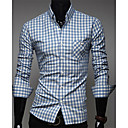 Mens Classic Color Plaids Causal Shirts