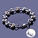 anchura de las pulseras del acoplamiento de cadena hecha a mano regalo personalizado joyería de acero inoxidable grabado 1.2cm