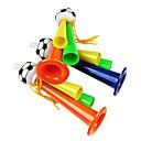2014 Copa del Mundo tres ventiladores de tubo de plástico que animan la trompeta (color al azar)