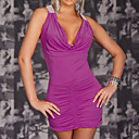Womens ML17648 Free Shipping Party Costume Outfit Stunning Halter Mini Dress