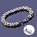 anchura de las pulseras del acoplamiento de cadena hecha a mano regalo personalizado joyería de acero inoxidable grabado 1.1cm