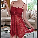 Womens  Sexy Red Lace Nightgown