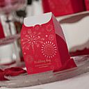 Cajas Tema asiática roja de la boda del favor - Conjunto de 12