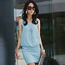 Womens Elegant Cotton Bodycon OL Fashion Dress